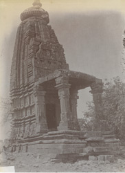 Front view of Adinatha Temple, Saurai, Jhansi District.